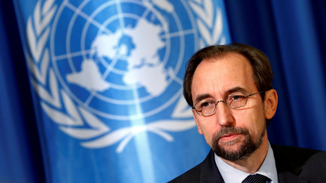 United Nations High Commissioner for Human Rights Zeid Ra'ad Al Hussein attends a media briefing at the U.N. European headquarters in Geneva, Switzerland October 12, 2016.