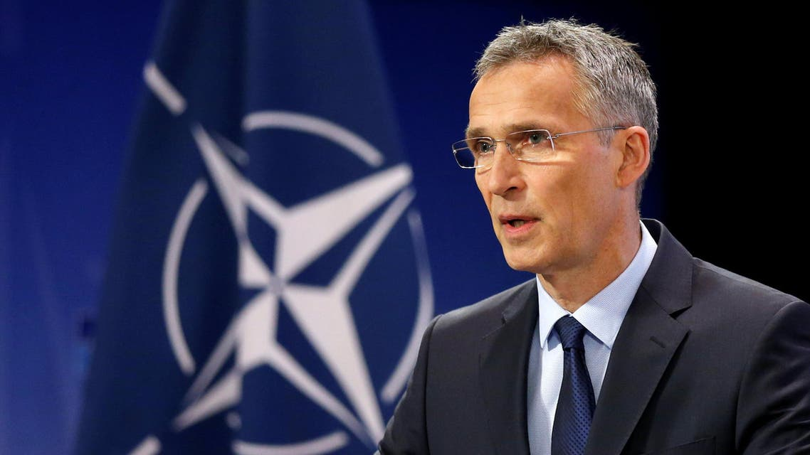 NATO Secretary-General Jens Stoltenberg addresses a news conference ahead of a NATO defence ministers meeting at the Alliance headquarters in Brussels, Belgium, June 28, 2017.