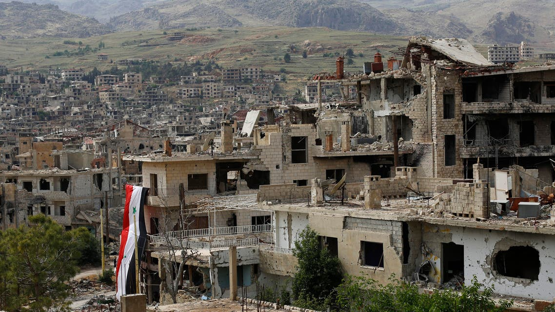 building at the mountain resort town of Zabadani in Syria (AP, May, 2015)