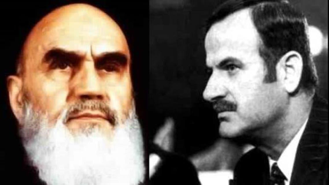 حافظ الأسد والخميني