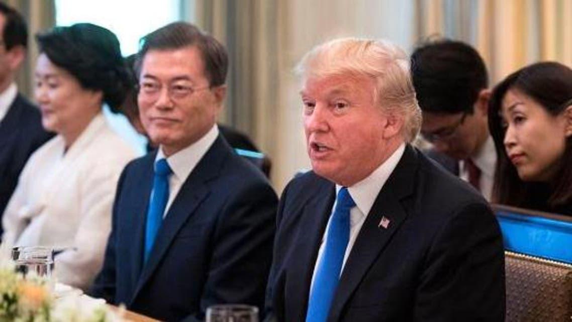 ترمب مع رئيس كوريا الجنوبية