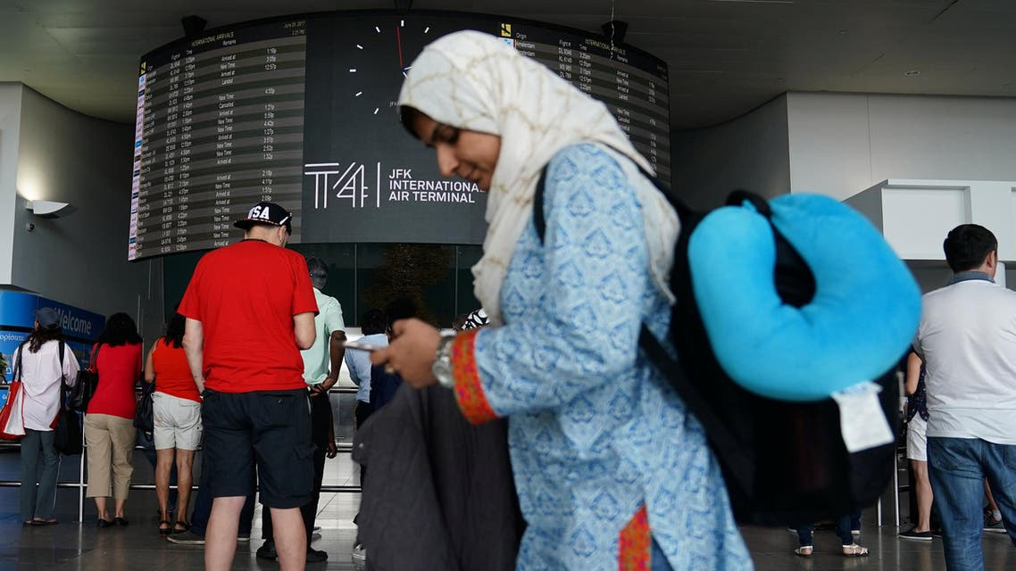 People wait for flights in advance of the incoming travel ban to the U.S. at John F. Kennedy airport in the Queens borough of New York City, New York, U.S. June 29, 2017. (reuters)
