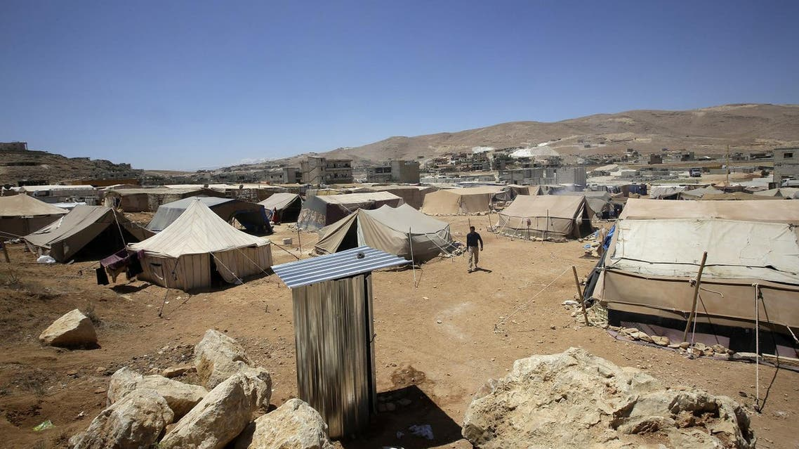This June 14, 2013 photo shows tents at the Arsal refugee camp in the Lebanese Bekaa valley that hosts Syrian families who fled the conflict in Syria. (AFP)