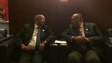 وزيرا خارجية مصر والجزائر يبحثان تطورات أزمة قطر