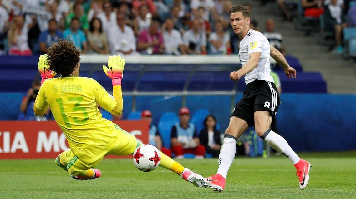 Germany's Leon Goretzka scores their second goal REUTERS