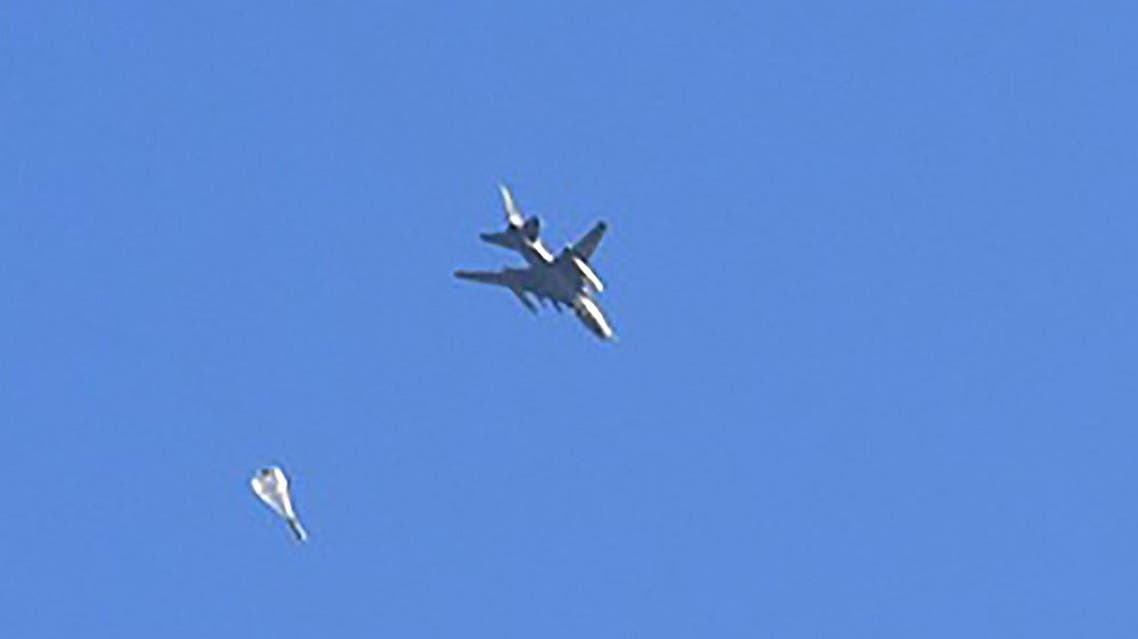 A fighter jet used by the Syrian government forces drop a bomb during their assault to retake the entire northern city of Aleppo from rebel fighters on November 28, 2016. (File photo: AFP)