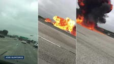 WATCH: Plane crashes on US freeway and bursts into flames
