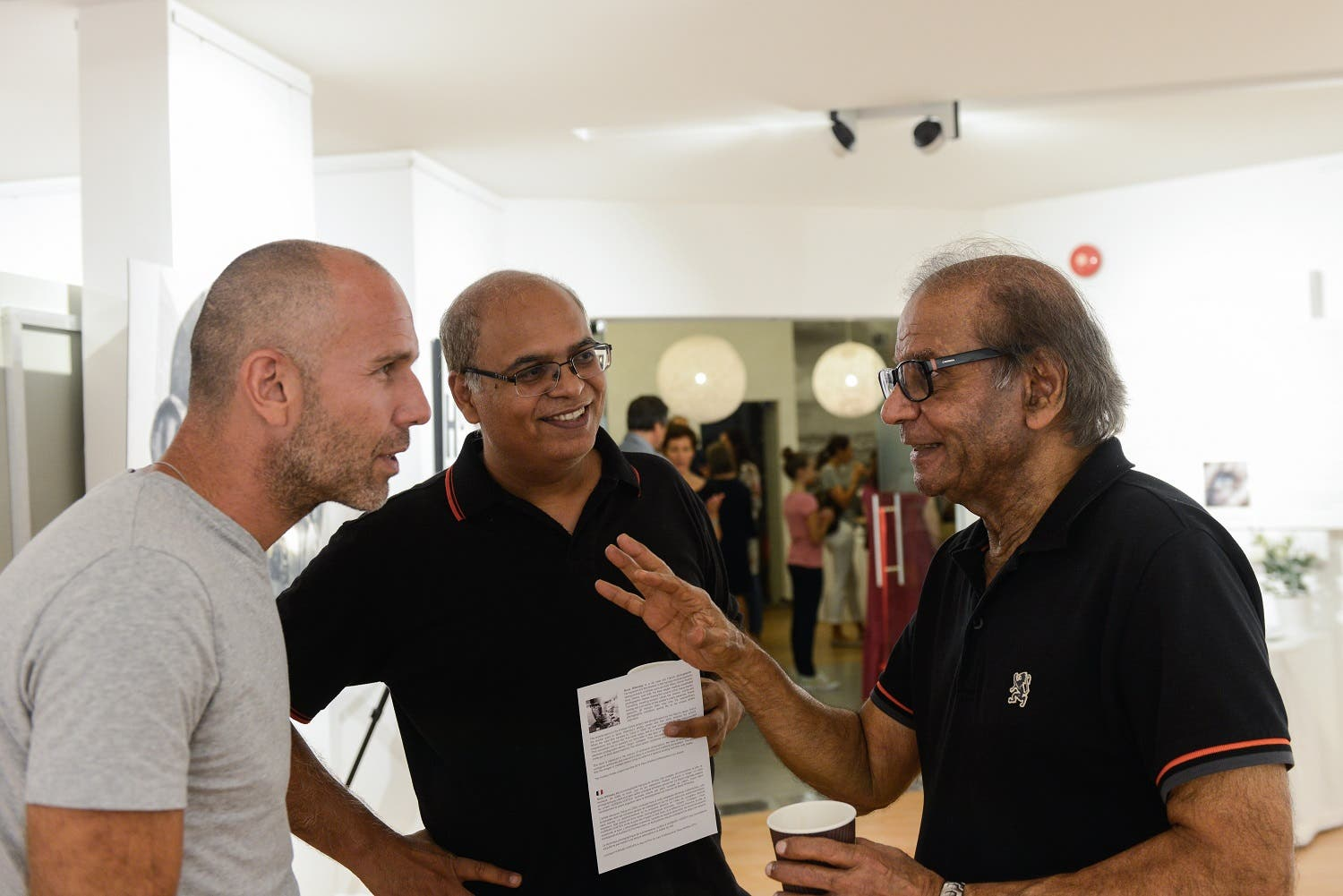 Wilensky (left) at the vernissage of his exhibition at Alliance Francaise, Dubai. (Supplied)