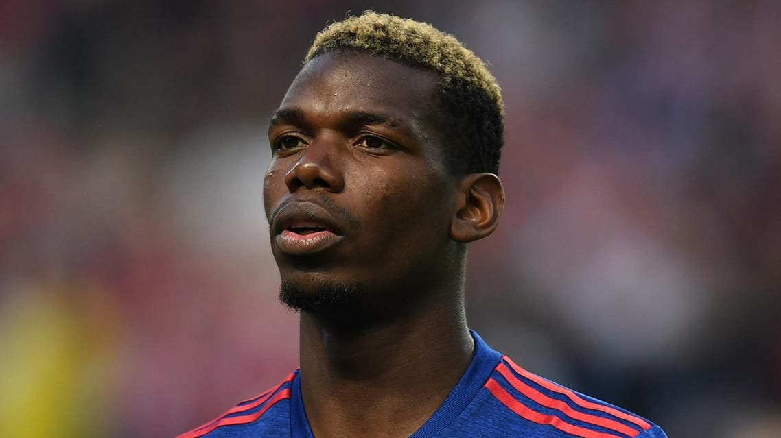Manchester United's French midfielder Paul Pogba sings the national anthem prior to the UEFA Europa League final football match Ajax Amsterdam v Manchester United on May 24, 2017 at the Friends Arena in Solna outside Stockholm. (AFP)