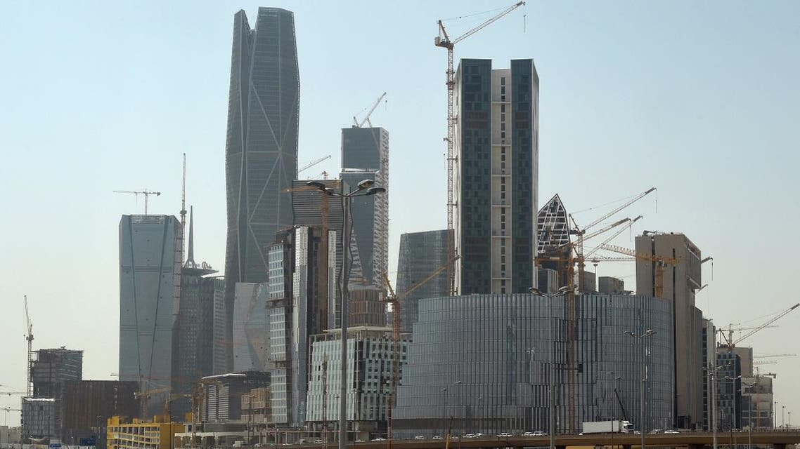 A picture taken on March 9, 2016 shows towers under construction at the King Abdullah Financial District in the Saudi capital Riyadh. (AFP)