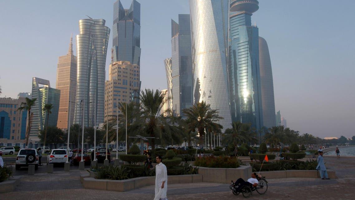 A man walks on the corniche in Doha, Qatar, June 15, 2017.(Reuters)