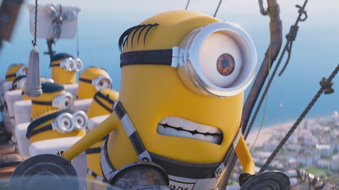 """This image released by Illumination and Universal Pictures shows the Minions in a scene from """"Despicable Me 3."""" (Illumination and Universal Pictures via AP)"""