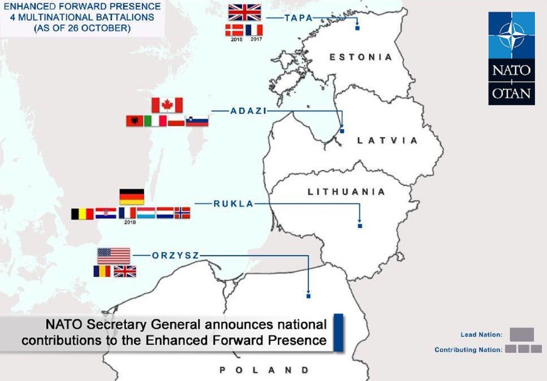 Forward NATO position. (Supplied)