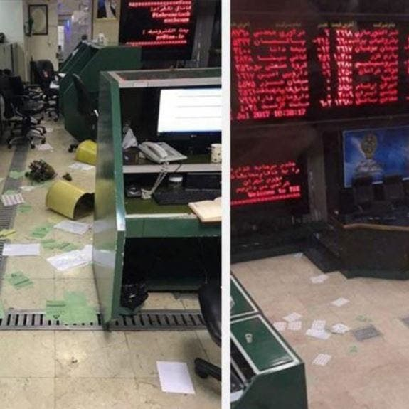 بالفيديو.. مساهمون یهاجمون بورصة طهران بعد خسائر كبيرة