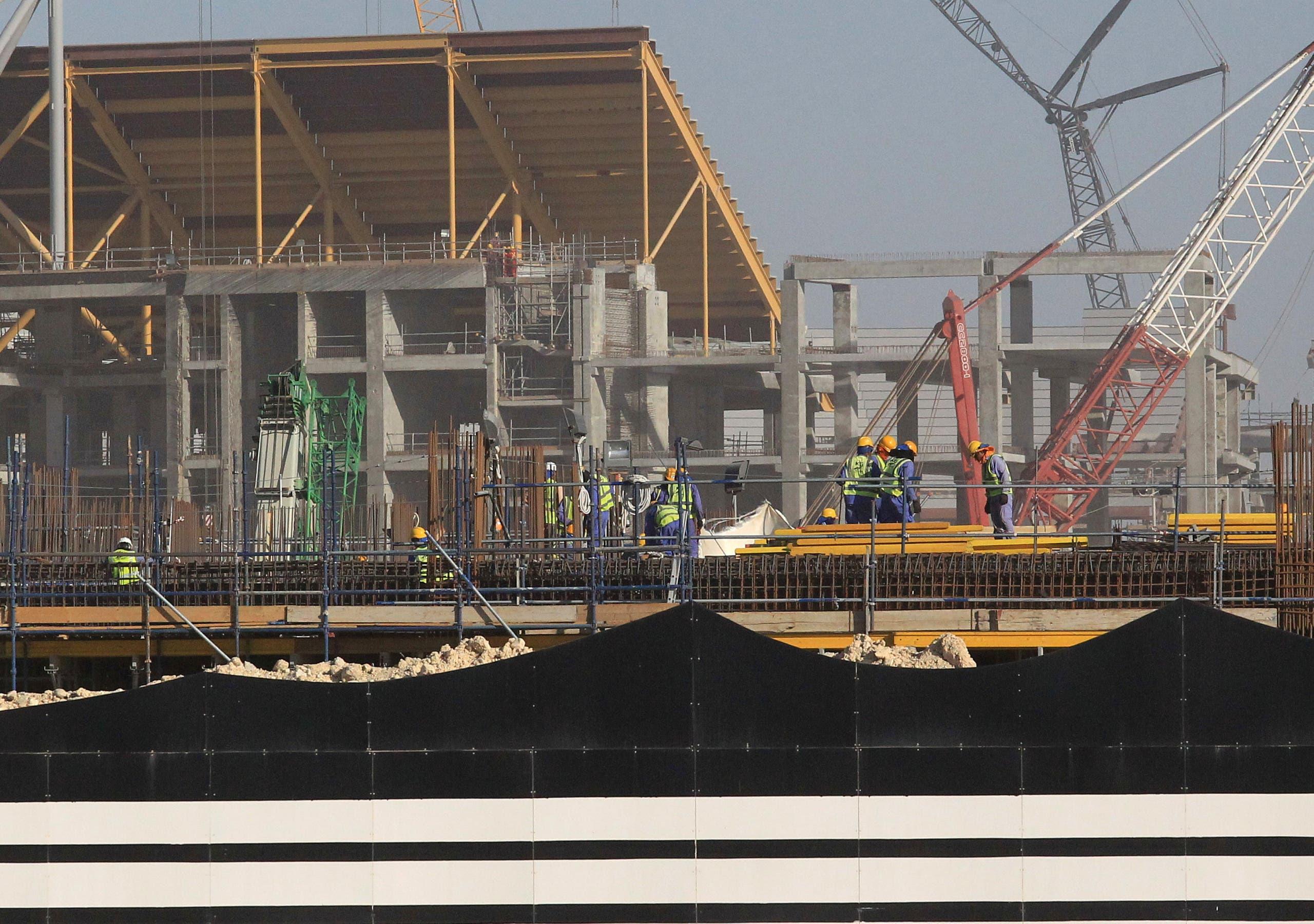 مشروع بناء أحد ملاعب كأس العالم 2022 في قطر