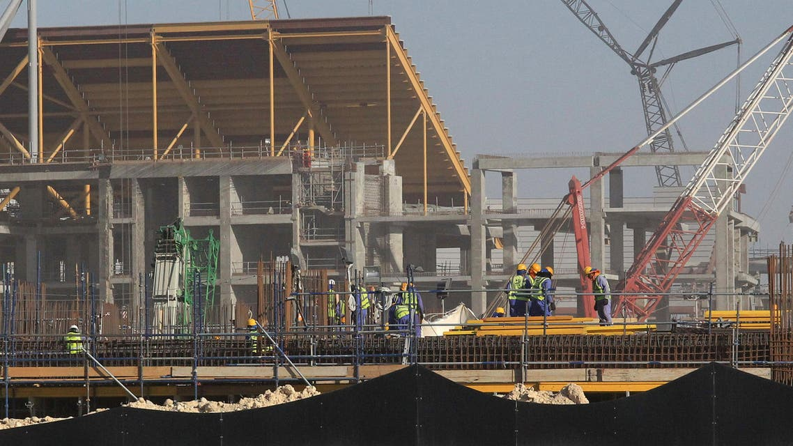 A view of the construction work at Al Bayt Stadium in Doha, Qatar, June 20, 2017