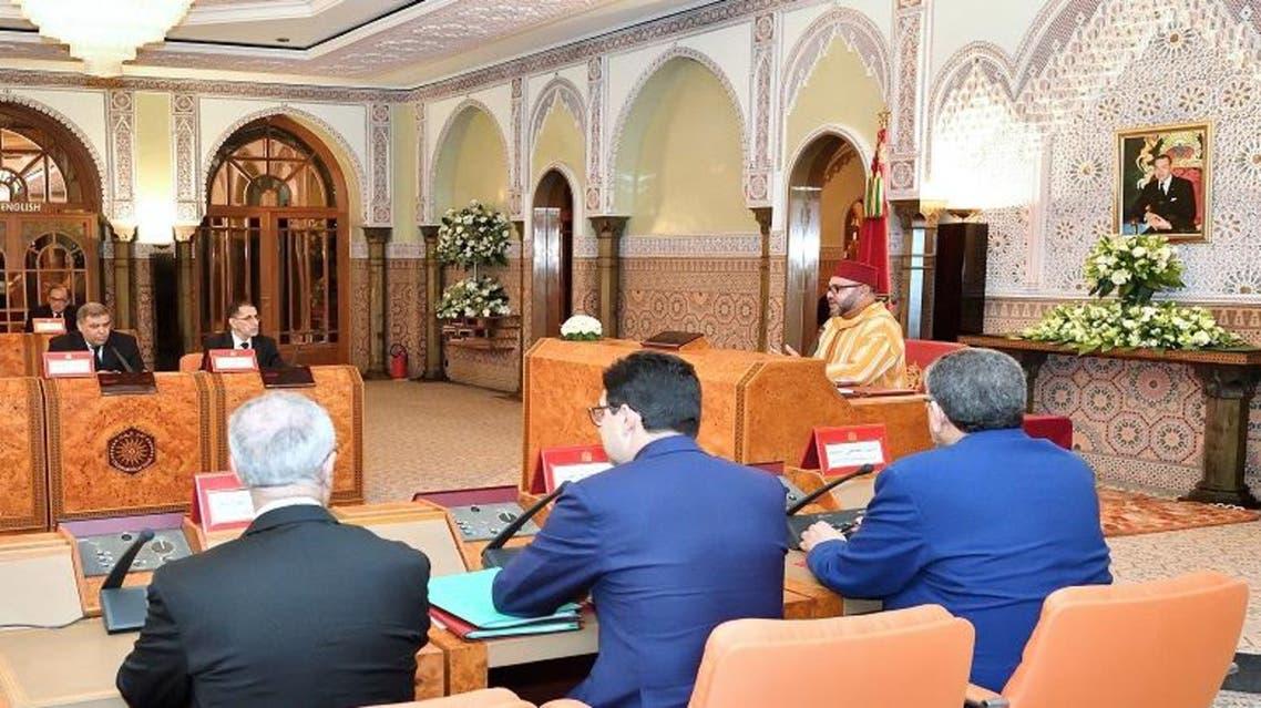 المجلس الوزاري في رمضان الماضي ترأس العاهل المغربي فيه اجتماعا مع الحكومة المغربية