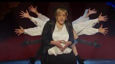 Slovenian comic's parody has Merkel dancing with 'zombie' refugees
