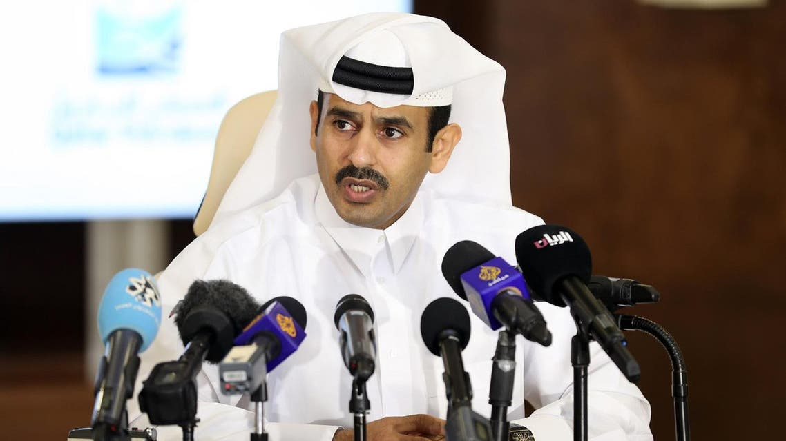 President and CEO of Qatar Petroleum, Saad Sherida al-Kaabi, speaks during a press conference in Doha, on July 4, 2017. (AFP)