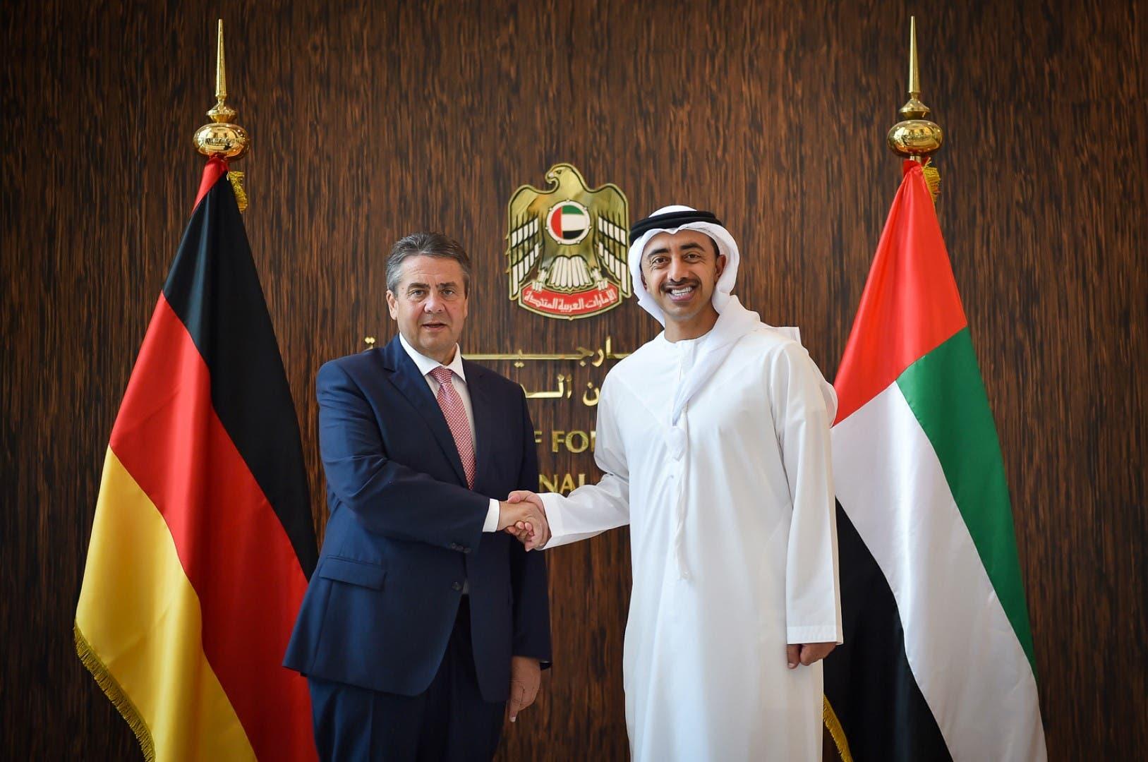 وزير الخارجية الإماراتي ونظيره الألماني