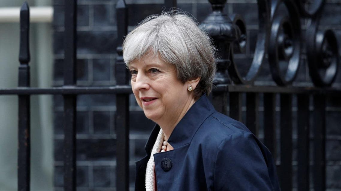 Britain's Prime Minister Theresa May leaves Downing Street in London, Britain June 29, 2017. REUTERS/Peter Nicholls