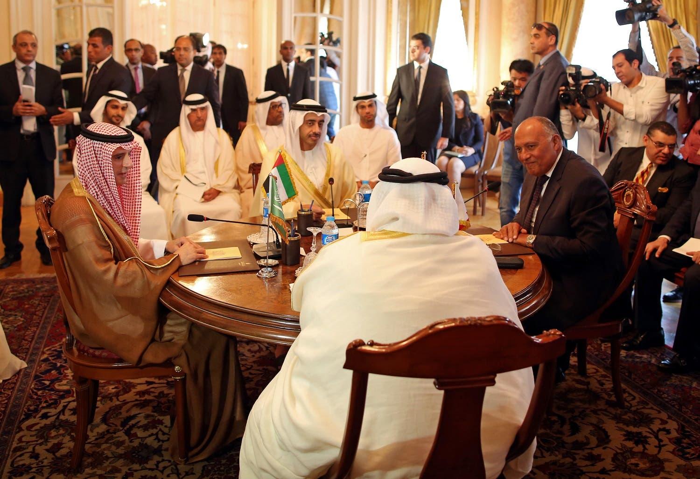 اجتماع وزراء خارجية الدول الأربع في القاهرة