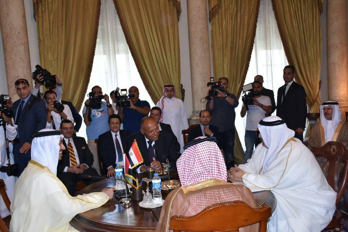 وزراء خارجية الدول الداعية لمكافحة الإرهاب (مصر والسعودية والإمارات والبحرين)