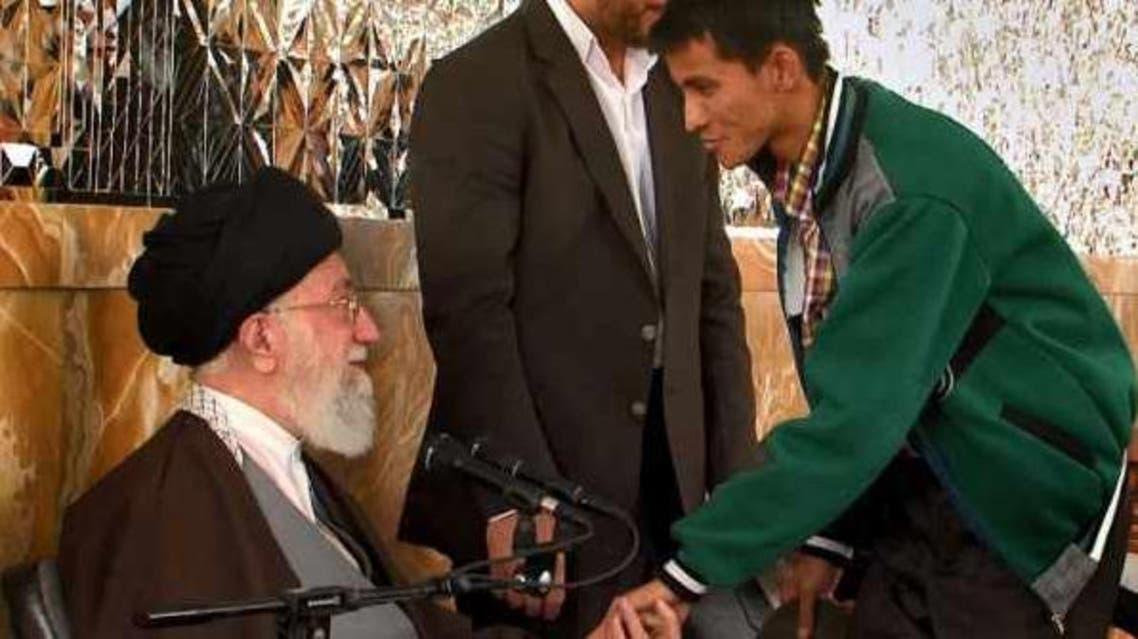 خامنئي يستقبل مقاتلين أفغان