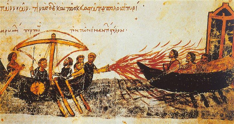 رسوم عن استخدام النفط والنيران
