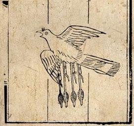الغراب الطائر بنيران سحرية
