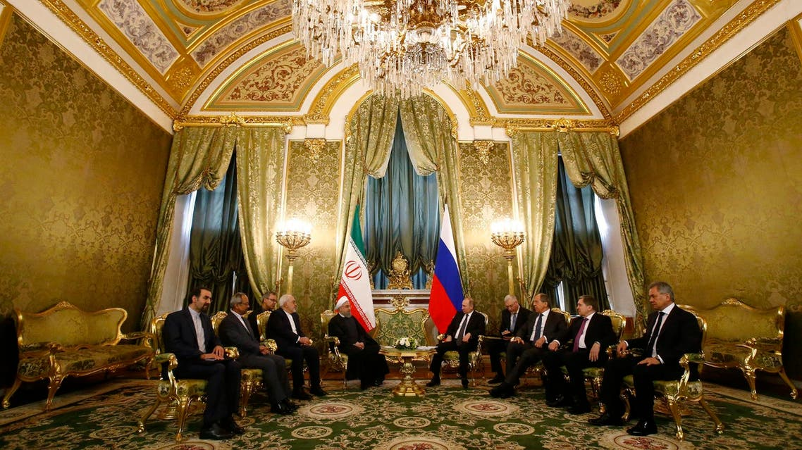 Russian President Vladimir Putin with his Iranian counterpart Hassan Rouhani at the Kremlin in Moscow on March 28, 2017. (AFP)