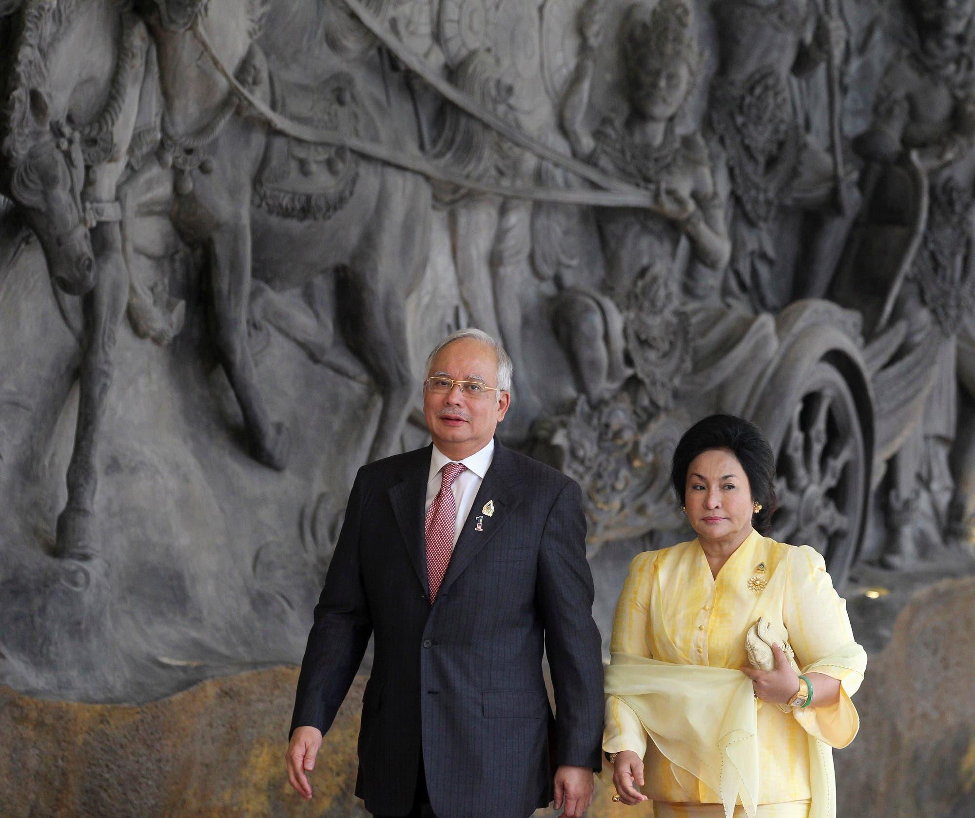 Prime Minister Najib Razak and his wife Rosmah Mansor arrive for ASEAN Summit in Nusa Dua, Bali, on November 17, 2011. (Reuters)