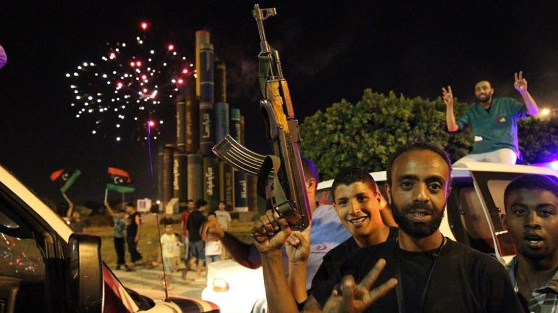 احتفالات في بنغازي بعد تحريرها من المتطرفين