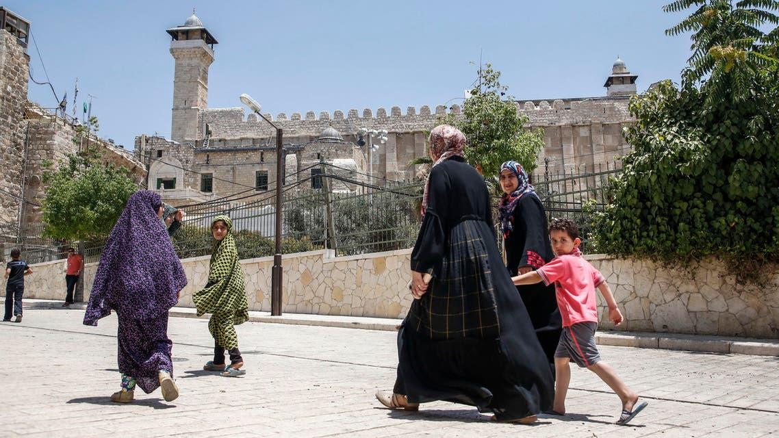 صورة خارجية لـ الحرم الإبراهيم في الخليل