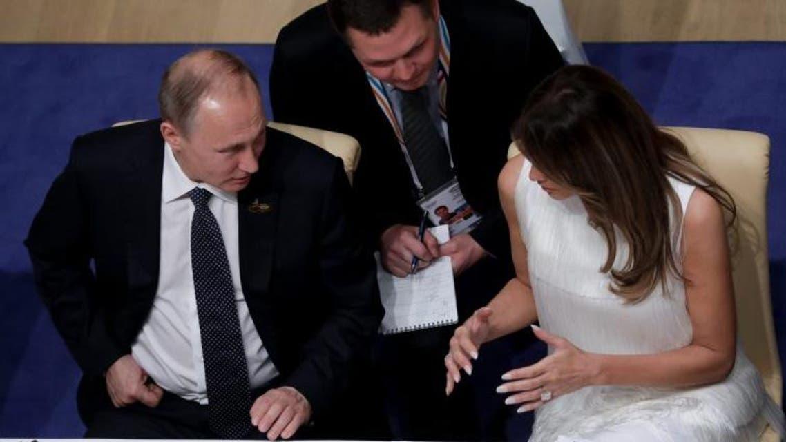 ميلانيا تتحدث إلى الرئيس الروسي