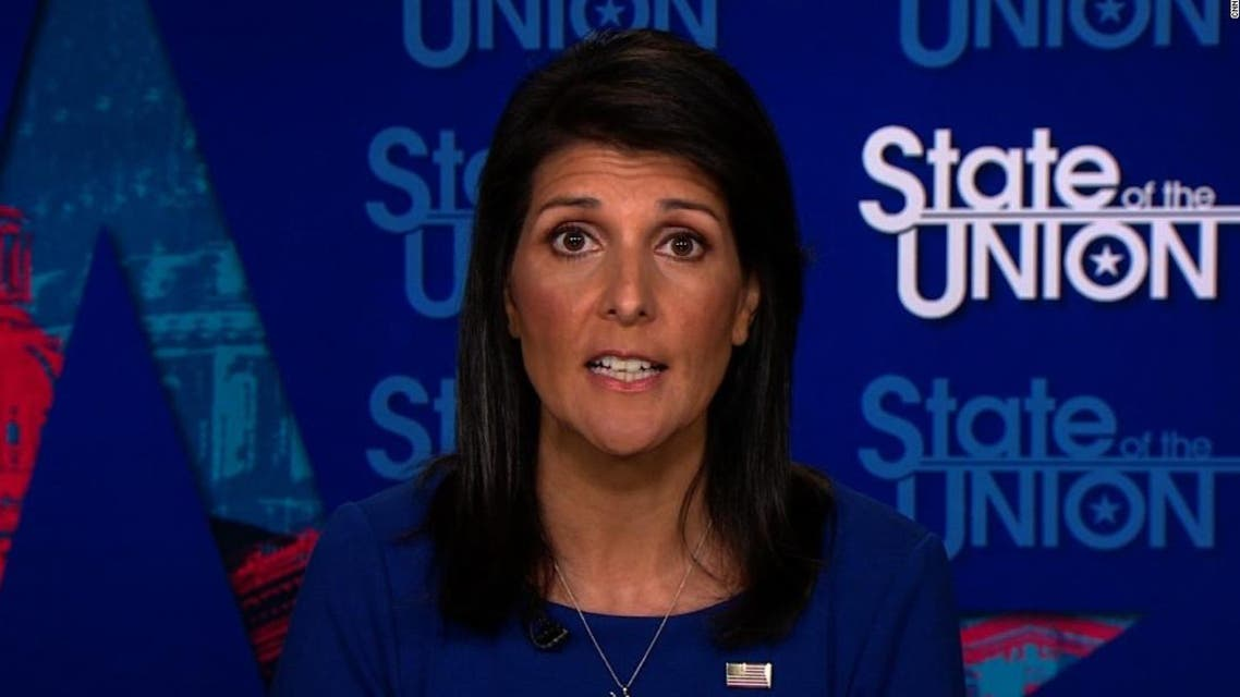 """Ambassador Nikki Haley told CNN Saturday that Trump's meeting with Russian President Putin at the G20 summit this week was """"very important."""" (Screengrab)"""