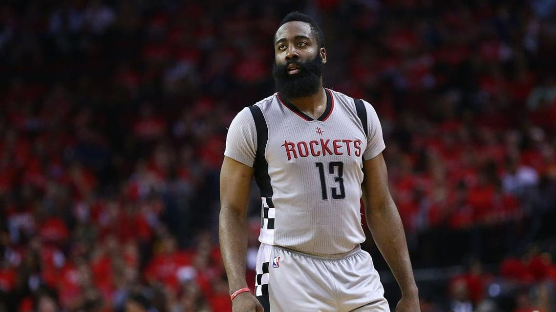 James Harden #13 of the Houston Rockets looks on against the San Antonio Spurs during Game Six of the NBA Western Conference Semi-Finals. (File photo: AFP)