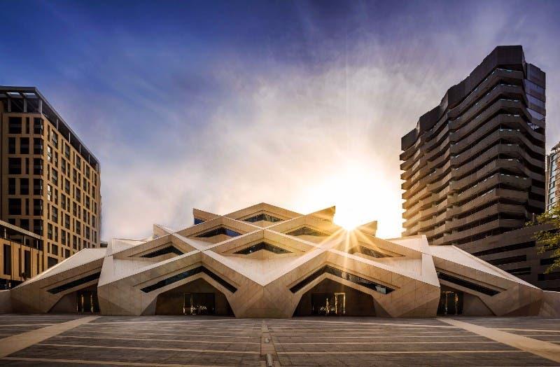 KAFD Grand Mosque by Mahmoud Abu Ghazal, Omrania and Associates in Riyadh. (World Architecture Festival
