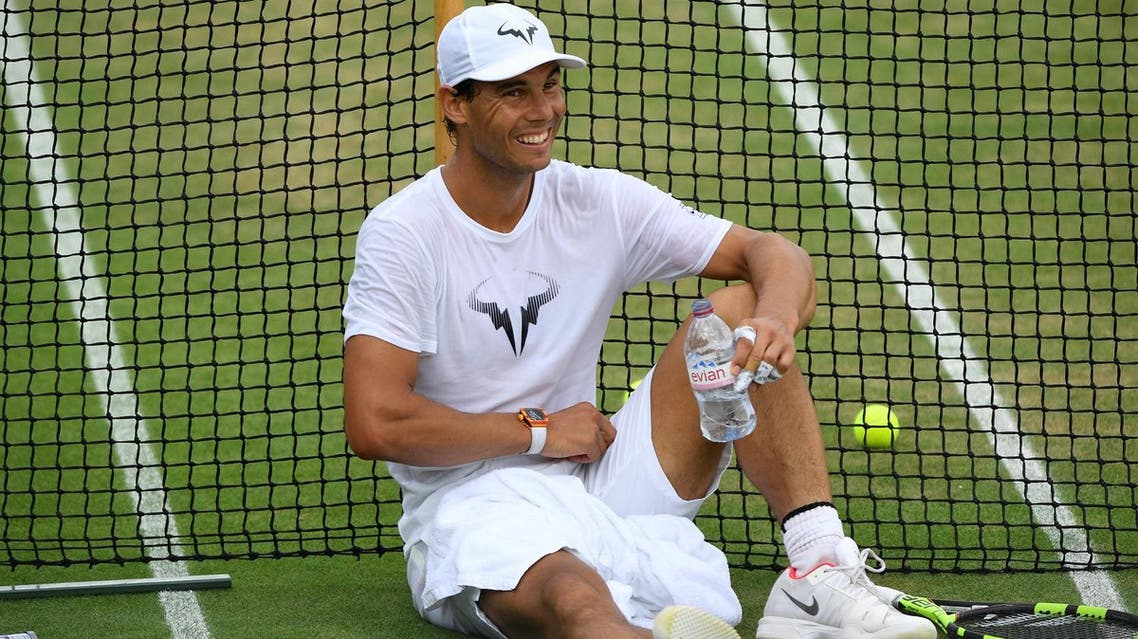 Spain's Rafael Nadal during a practice session at Wimbledon on July 9, 2017. (Reuters)
