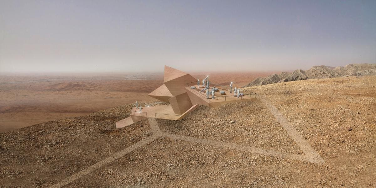 Sharjah Observatory in Mleiha National Park by3deluxe Transdisciplinary Design. (World Architecture Festival)