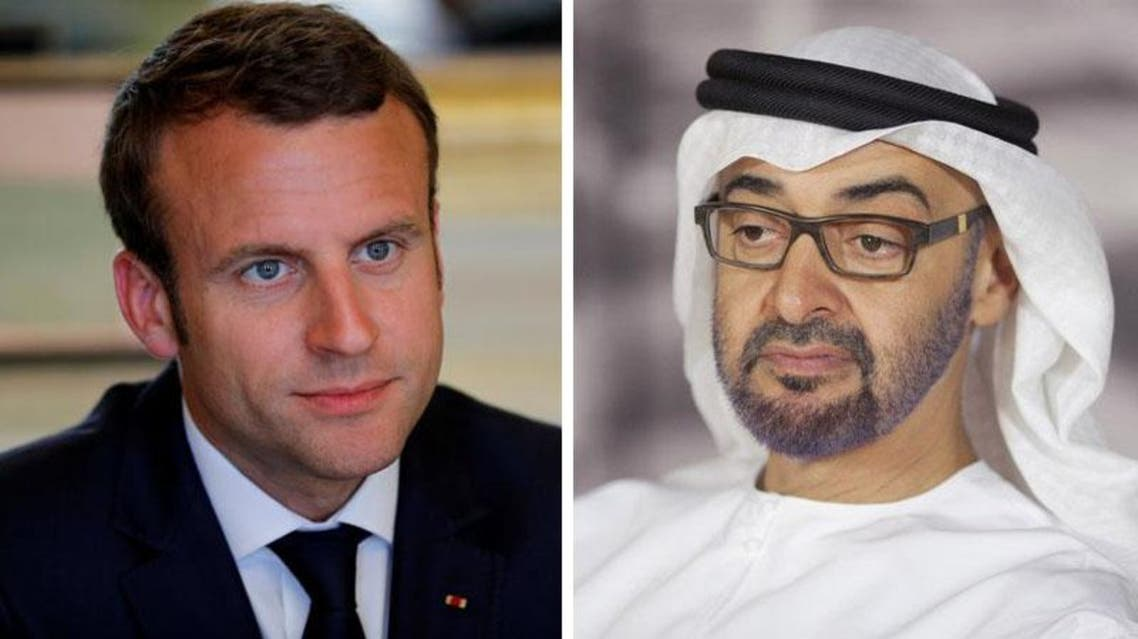Macron -Sheik Mohammed Bin Zayed