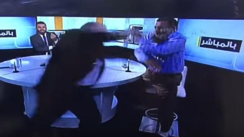 WATCH: Fight erupts between two guests on Lebanese TV channel - Al
