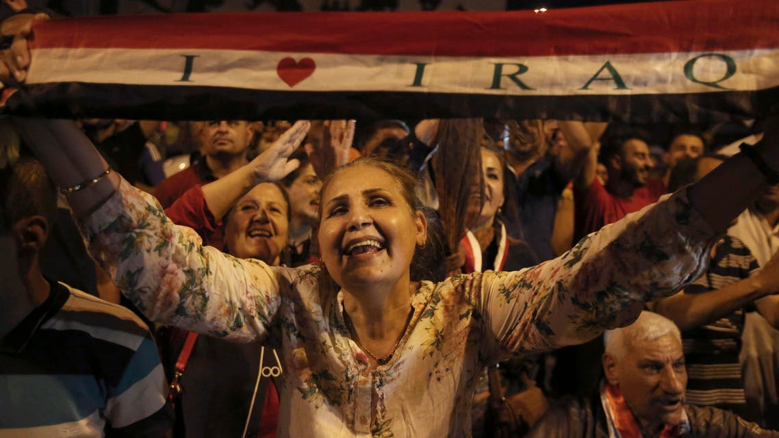 Iraqis celebrate liberation of Mosul