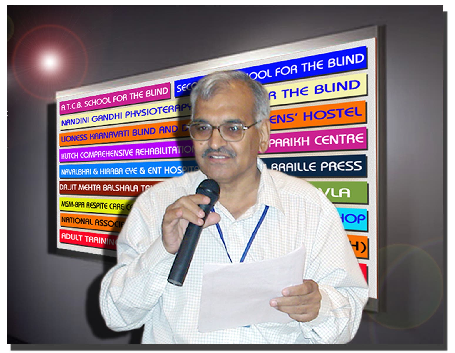 The Blind People's Association helmed by Dr Bhushan Punani has rehabilitated 500,000 handicapped people. (Supplied)
