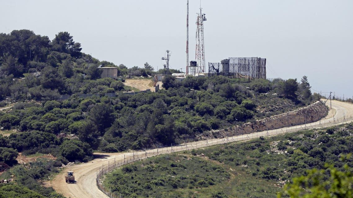 مشهد عام من الحدود اللبنانية الإسرائيلية