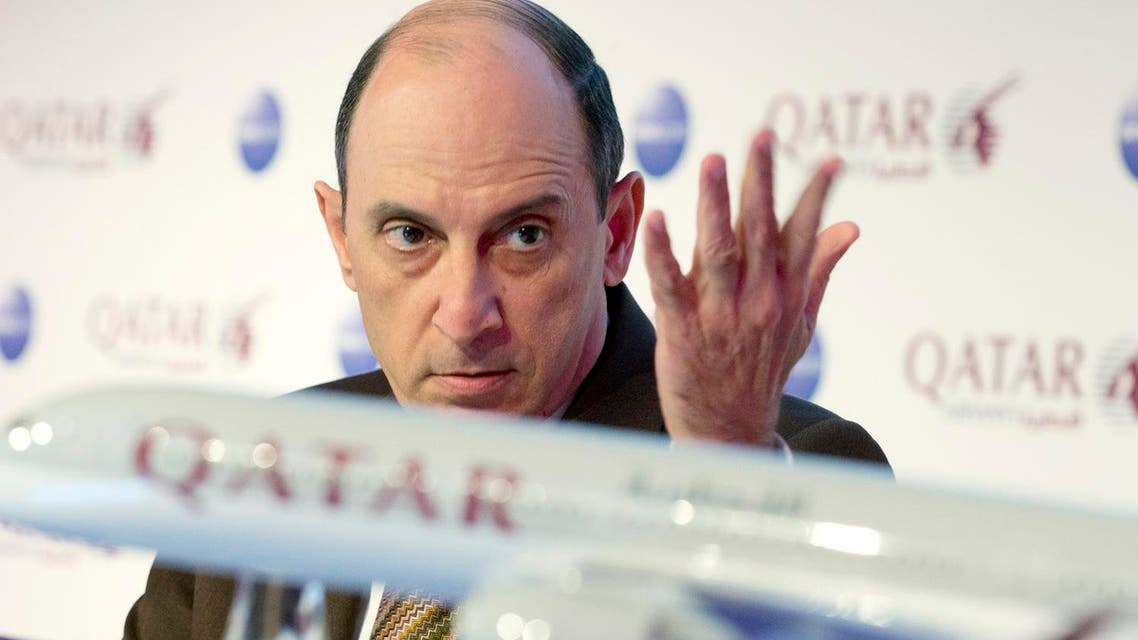 Qatar Airways Chief Executive Akbar Al Baker attends a news conference at the International Tourism Trade Fair (ITB) in Berlin, March 4, 2015. (File photo: Reuters)