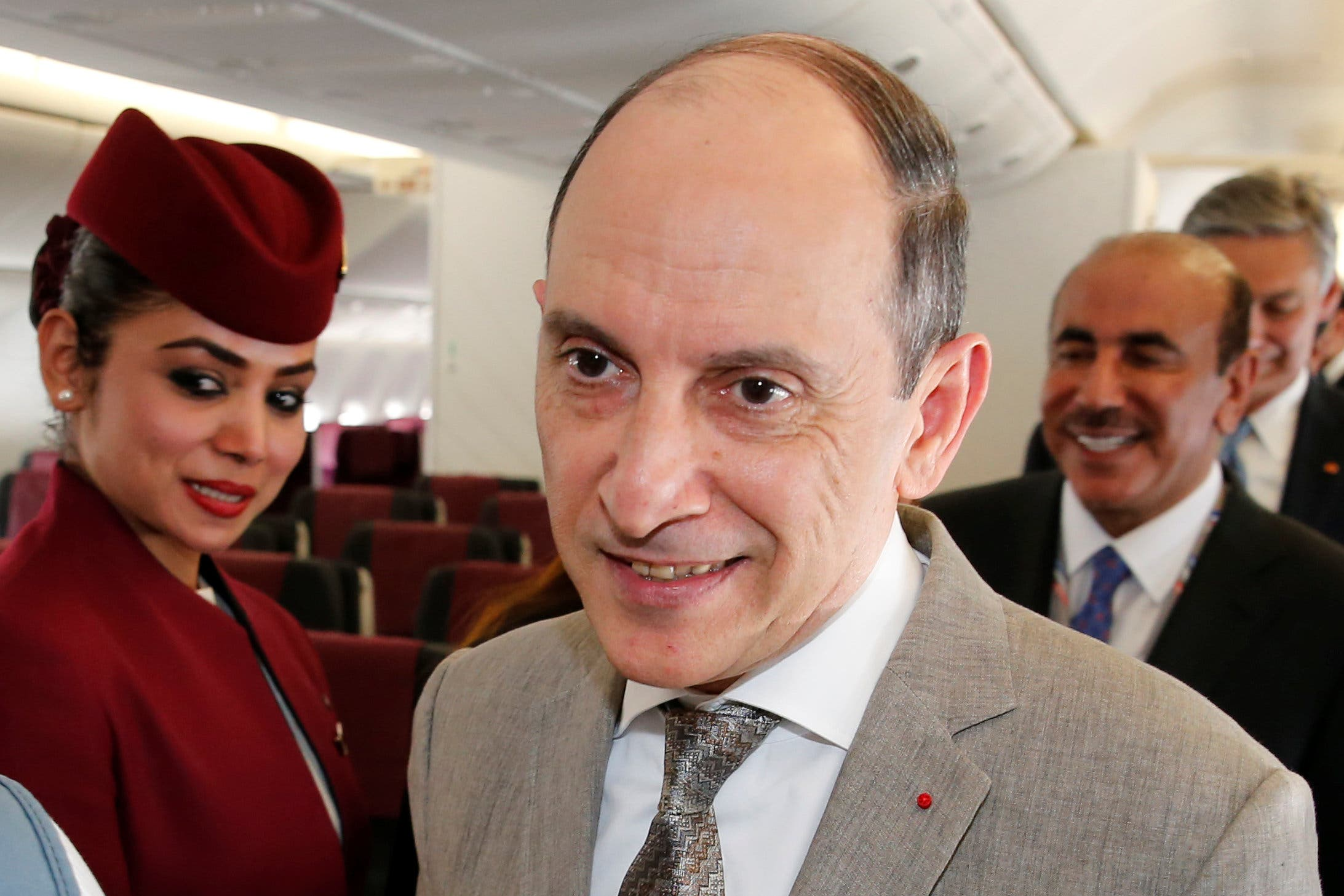Qatar Airways Chief Executive Officer Akbar Al Baker is seen during the 52nd Paris Air Show at Le Bourget airport near Paris, France, June 19, 2017