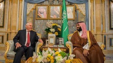 محمد بن سلمان يبحث مع تيلرسون جهود مكافحة الإرهاب