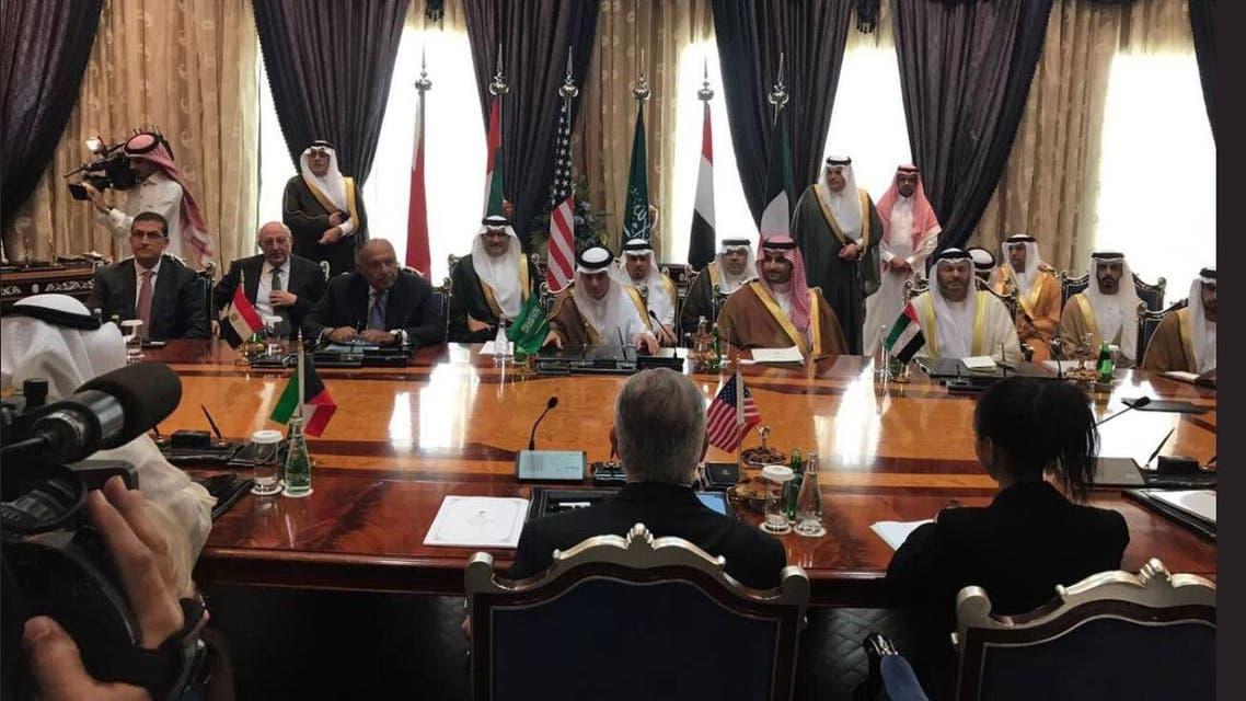اجتماع وزراء خارجية الدول الأربع مع تيلرسون