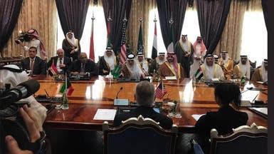 وزراء خارجية الدول الـ4 يلتقون تيلرسون في جدة